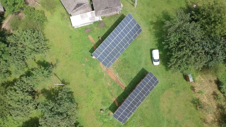 Сонячну електростанцію для дому потужністю 30 кВт встановлено в селі Баня-Березів 8