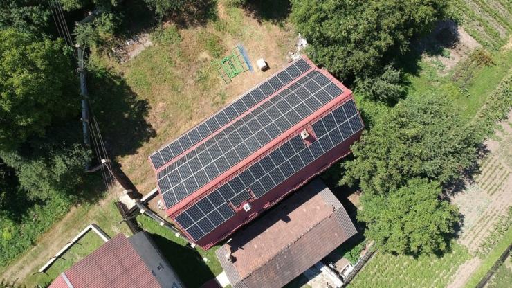 Сонячна електростанція для дому потужністю 30 кВт встановлена в Ямниці 1