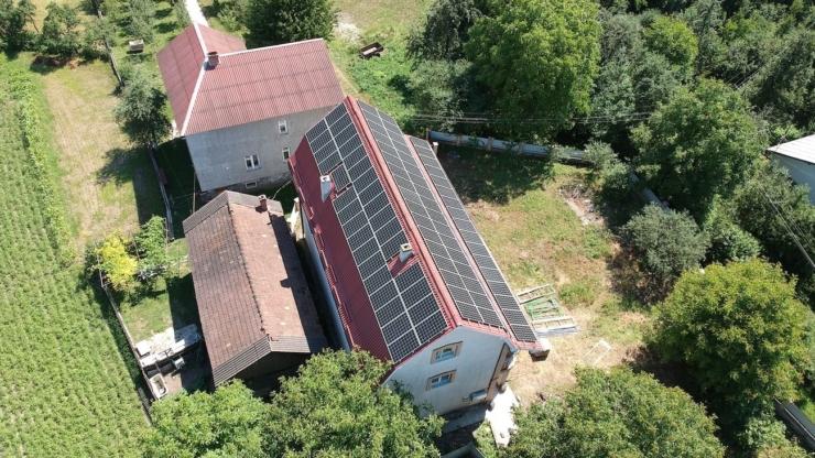 Сонячна електростанція для дому потужністю 30 кВт встановлена в Ямниці 2