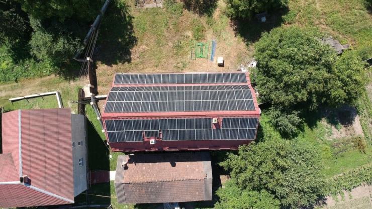 Сонячна електростанція для дому потужністю 30 кВт встановлена в Ямниці 3