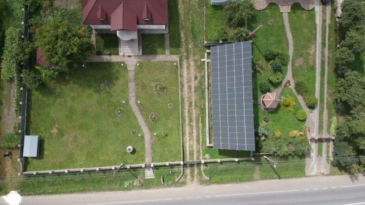 Сонячну електростанцію для дому потужністю 30 кВт встановлено в селі Конюшки 1