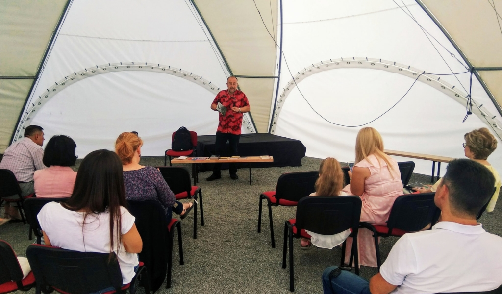 Франківський письменник Степан Процюк з приводу ювілею зустрівся з шанувальниками в Палаці Потоцьких 1