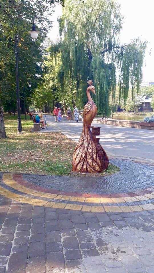 Франківському парку подарували паву 1