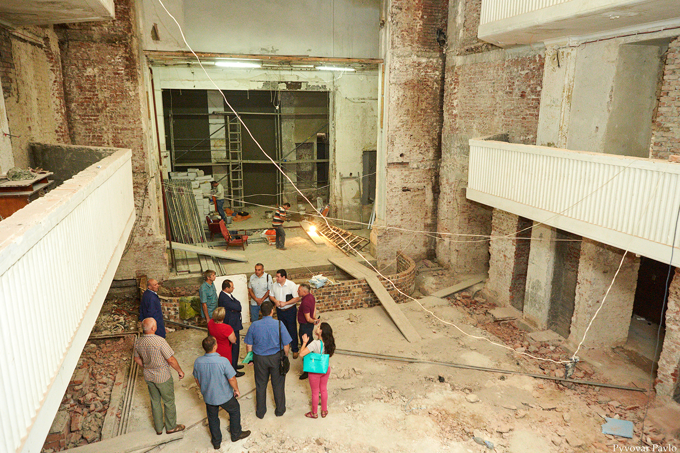 У Франківську триває ремонт Центрального народного дому 6