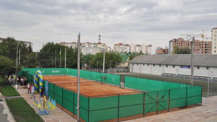"""Результат пошуку зображень за запитом """"В ІФНМУ відкрили сучасний тенісний корт з ґрунтовим покриттям (фото)"""""""