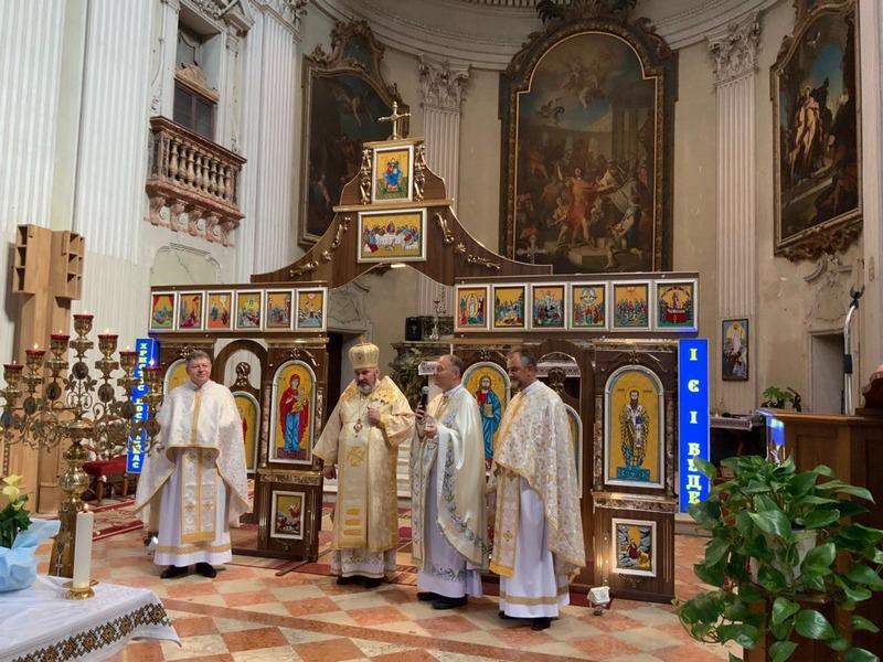 Коломийський єпископ очолив урочисте богослужіння в італійському храмі 2