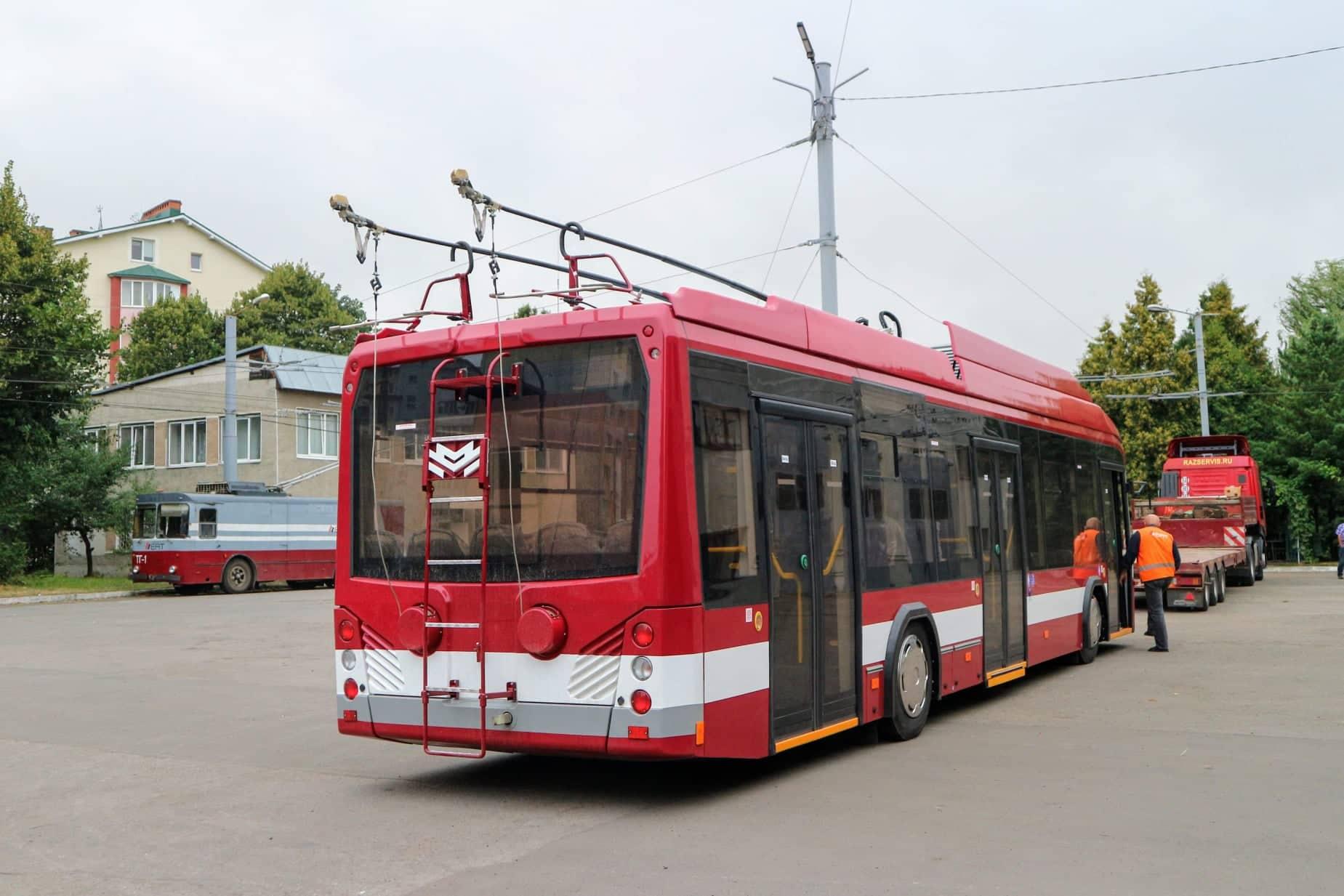 До Франківська приїхала перша партія білоруських тролейбусів 4