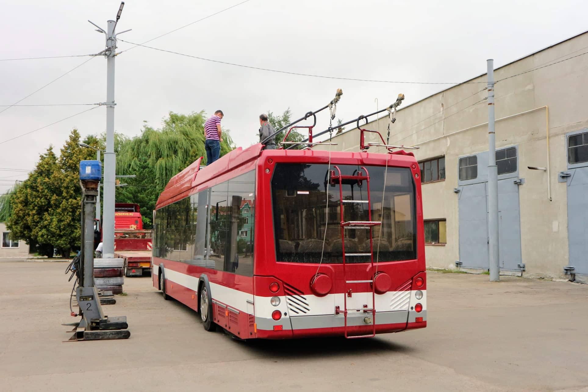 До Франківська приїхала перша партія білоруських тролейбусів 6