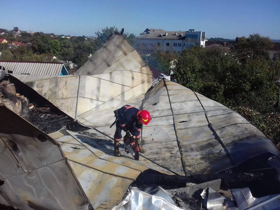 У Долині понад два десятки рятувальників гасили пожежу в будинку 2