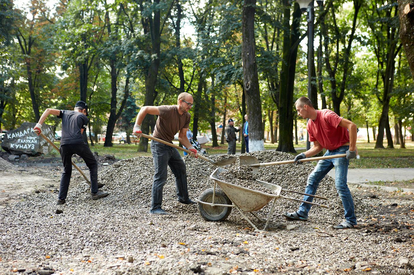 У парку Воїнів-інтернаціоналістів відновили ремонтні роботи 2