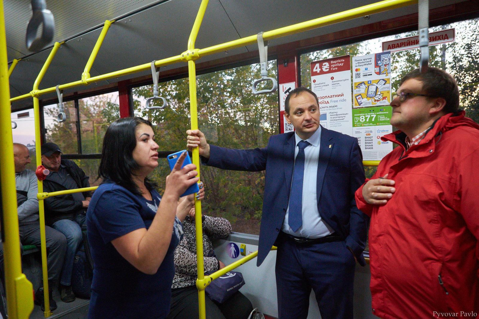 У Франківську запустили новий комунальний маршрут до Підлужжя 4