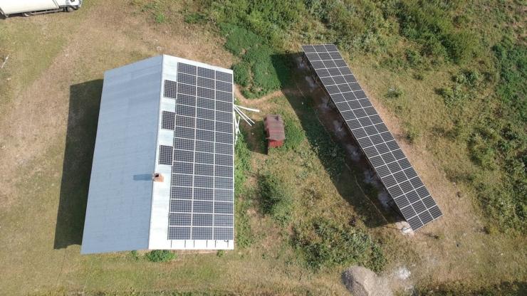 Сонячну електростанцію для дому потужністю 30 кВт встановлено в Кобаках 6