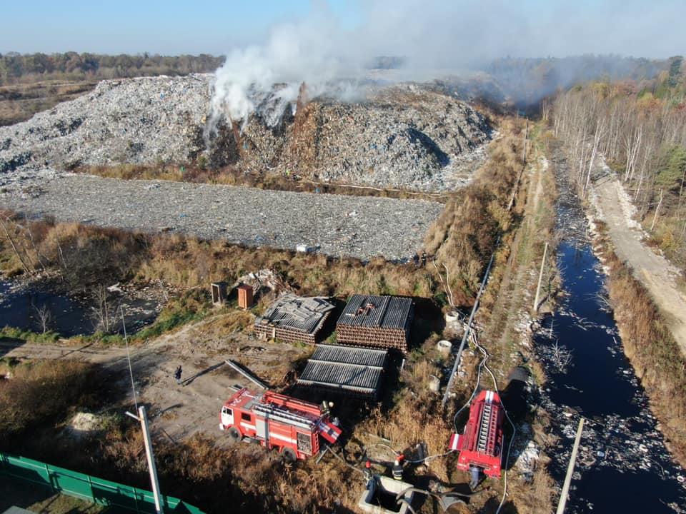 У Рибному під Франківськом горить сміттєзвалище. ОНОВЛЕНО 2