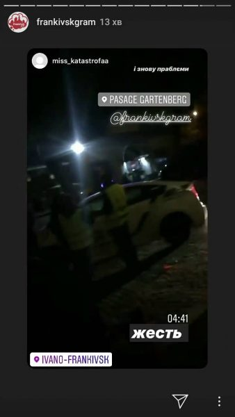 """У центрі Франківська розбився """"Мерседес"""" – є потерпілі 2"""