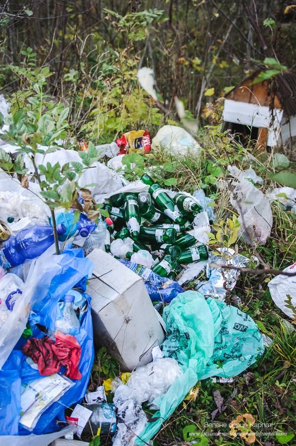 """Три купи: фестивальне сміття """"Полонинського літа"""" досі лежить попри дорогу у Верхньому Ясенові 4"""