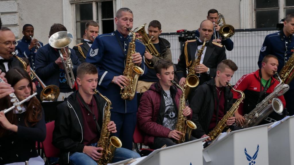 Музика свободи: оркестр військово-повітряних сил США влаштував джем у Палаці Потоцьких 2