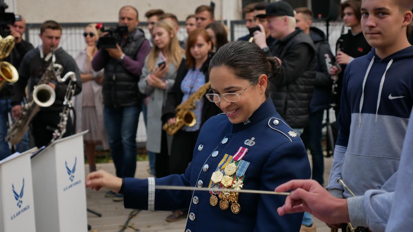 Музика свободи: оркестр військово-повітряних сил США влаштував джем у Палаці Потоцьких 10