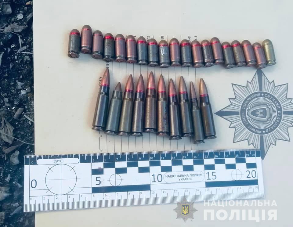 Франківець у кущах поблизу гаража знайшов гранату та патрони 1