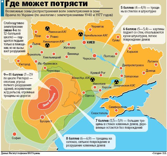 Сейсмологи прогнозують можливий землетрус у зоні Вранча в Карпатах 2