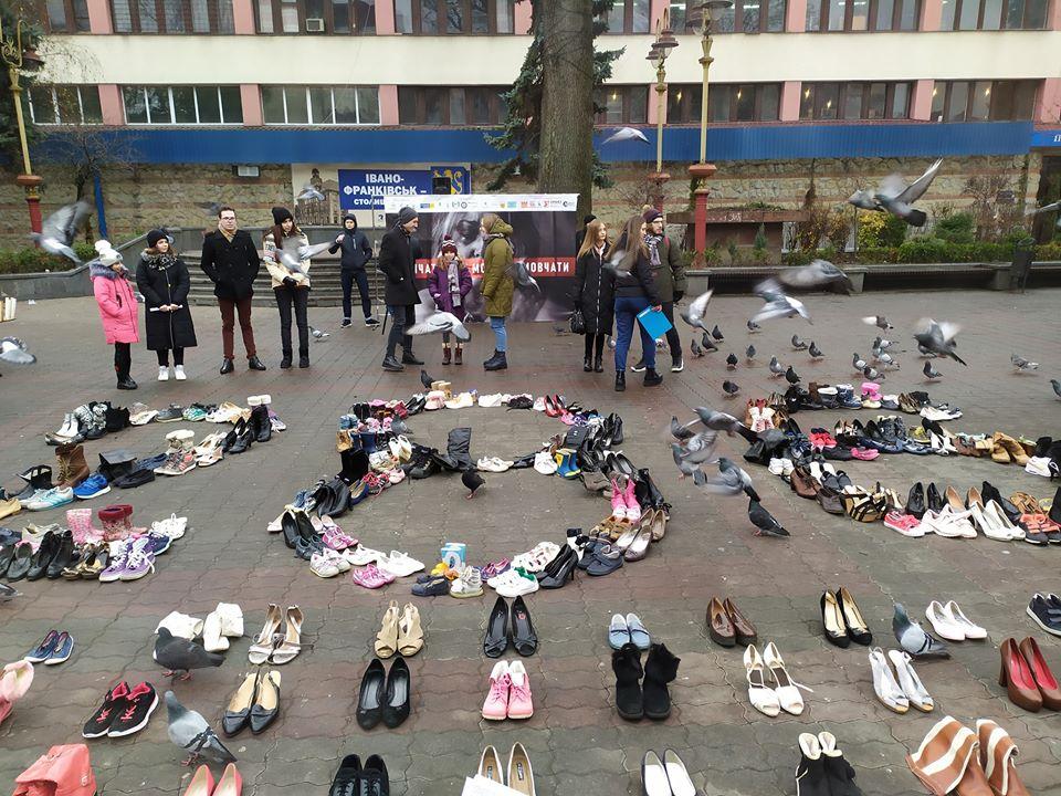 У Франківську влаштували перформанс проти домашнього насильства 2