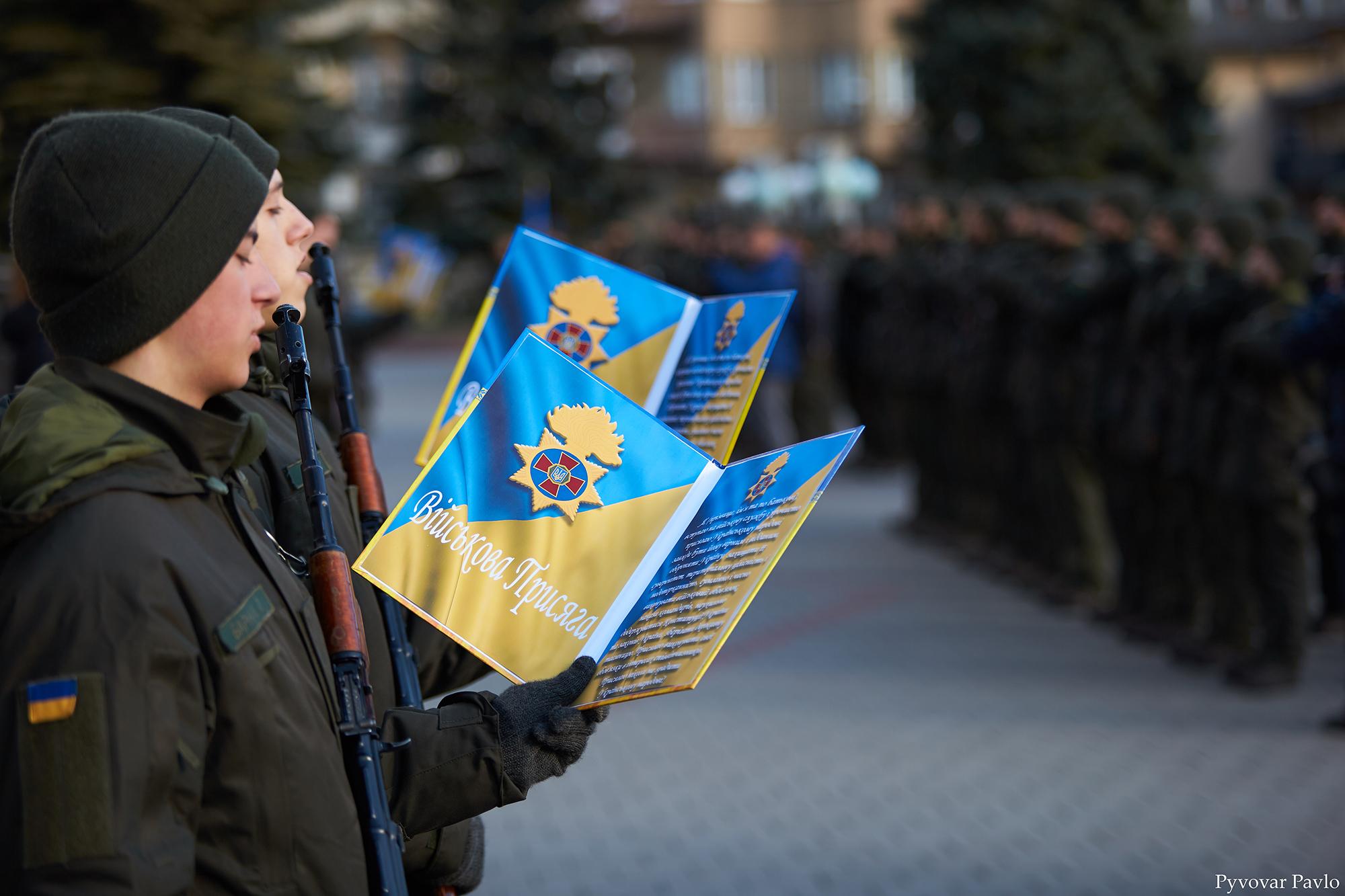 У Франківську 66 нацгвардійців присягнули на вірність українському народу 14