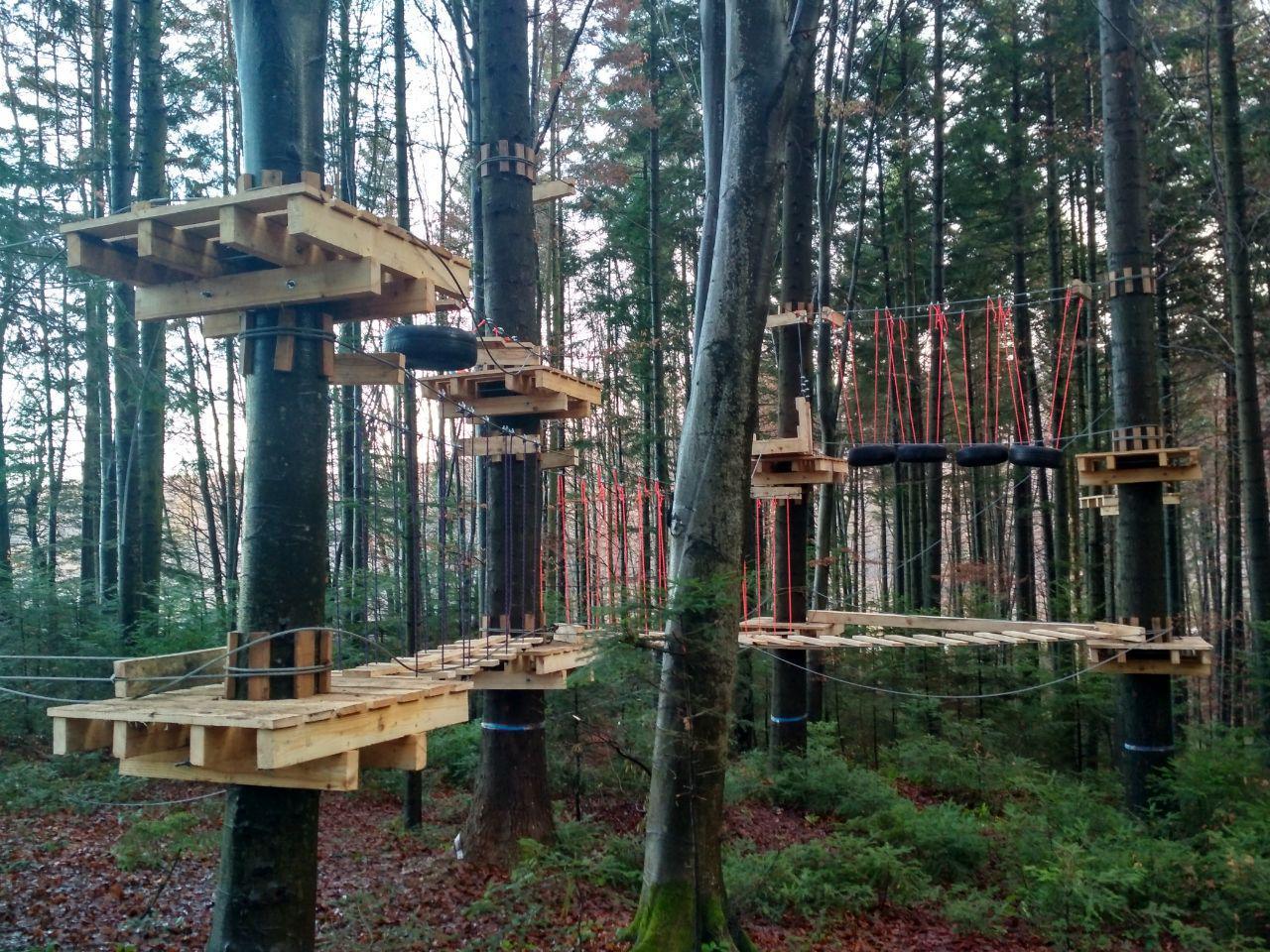 У лісгоспі на Франківщині встановили мотузковий парк для дітей 4