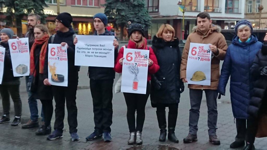 Франківці щодня будуть виходити на акцію солідарності з адвокаткою родин Небесної сотні, яка голодує 4