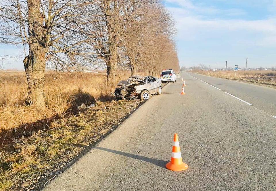 """Під Франківськом """"Ауді"""" врізалася в дерево – водій загинув 2"""