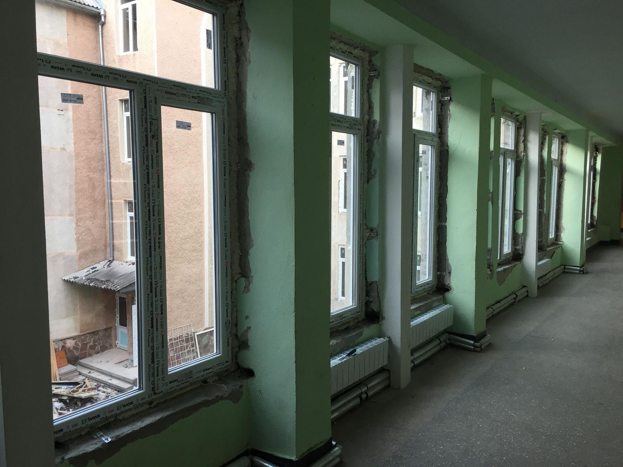 В одній з франківських гімназій замінили вікна й систему вентиляції за програмою НЕФКО 12