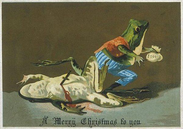 Страшне Різдво: франківський художник нагадав про поштівки 6