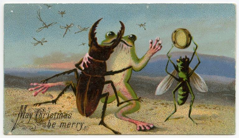 Страшне Різдво: франківський художник нагадав про поштівки 8
