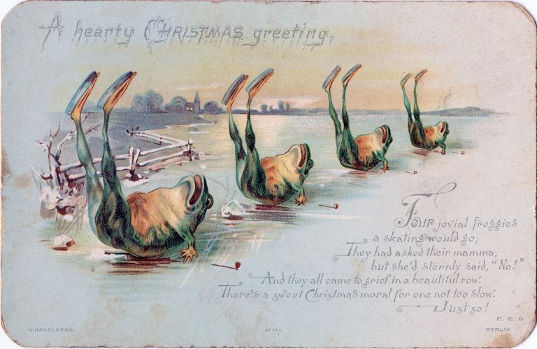Страшне Різдво: франківський художник нагадав про поштівки 9
