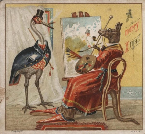 Страшне Різдво: франківський художник нагадав про поштівки 11