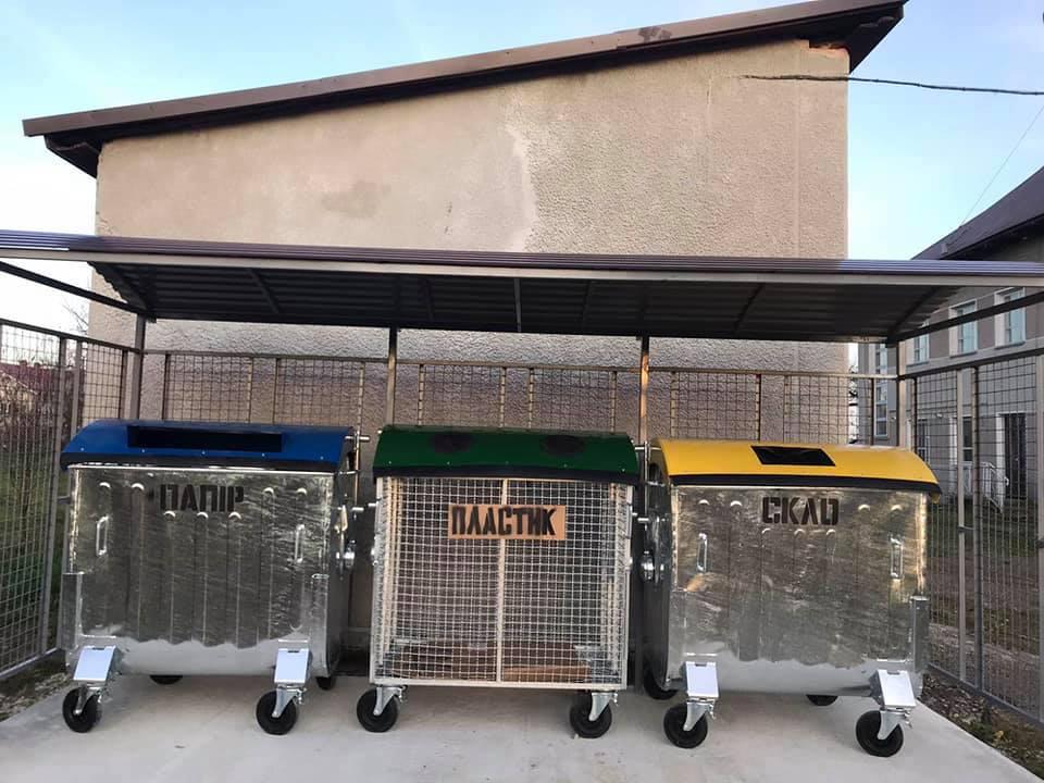 В ОТГ на Коломийщині встановили 11 майданчиків для роздільного збору сміття 2