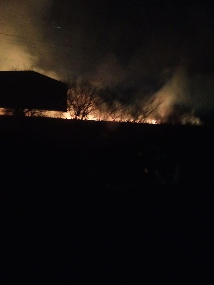 """""""Вогонь іде до будинків"""": три години гасили масштабну пожежу сухої трави біля Долини 4"""