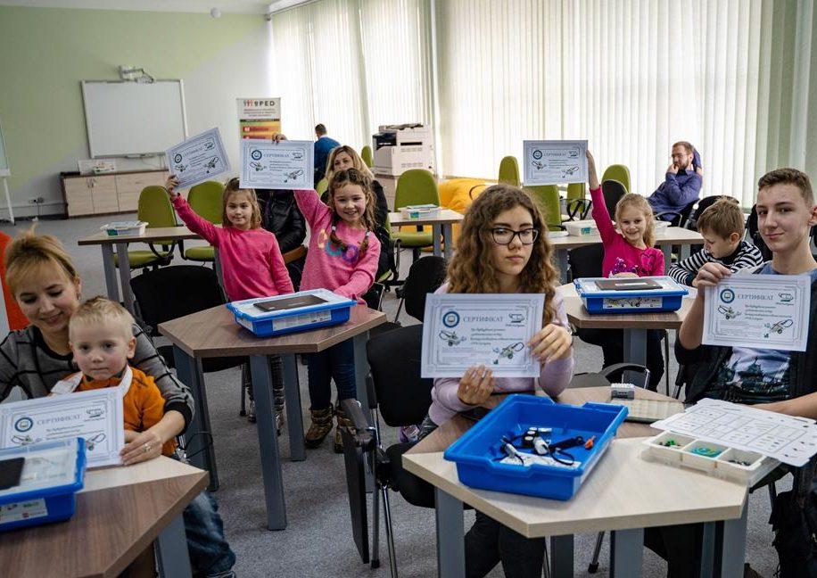 У Прикарпатському університеті провели безкоштовне заняття з робототехніки для дітей 4