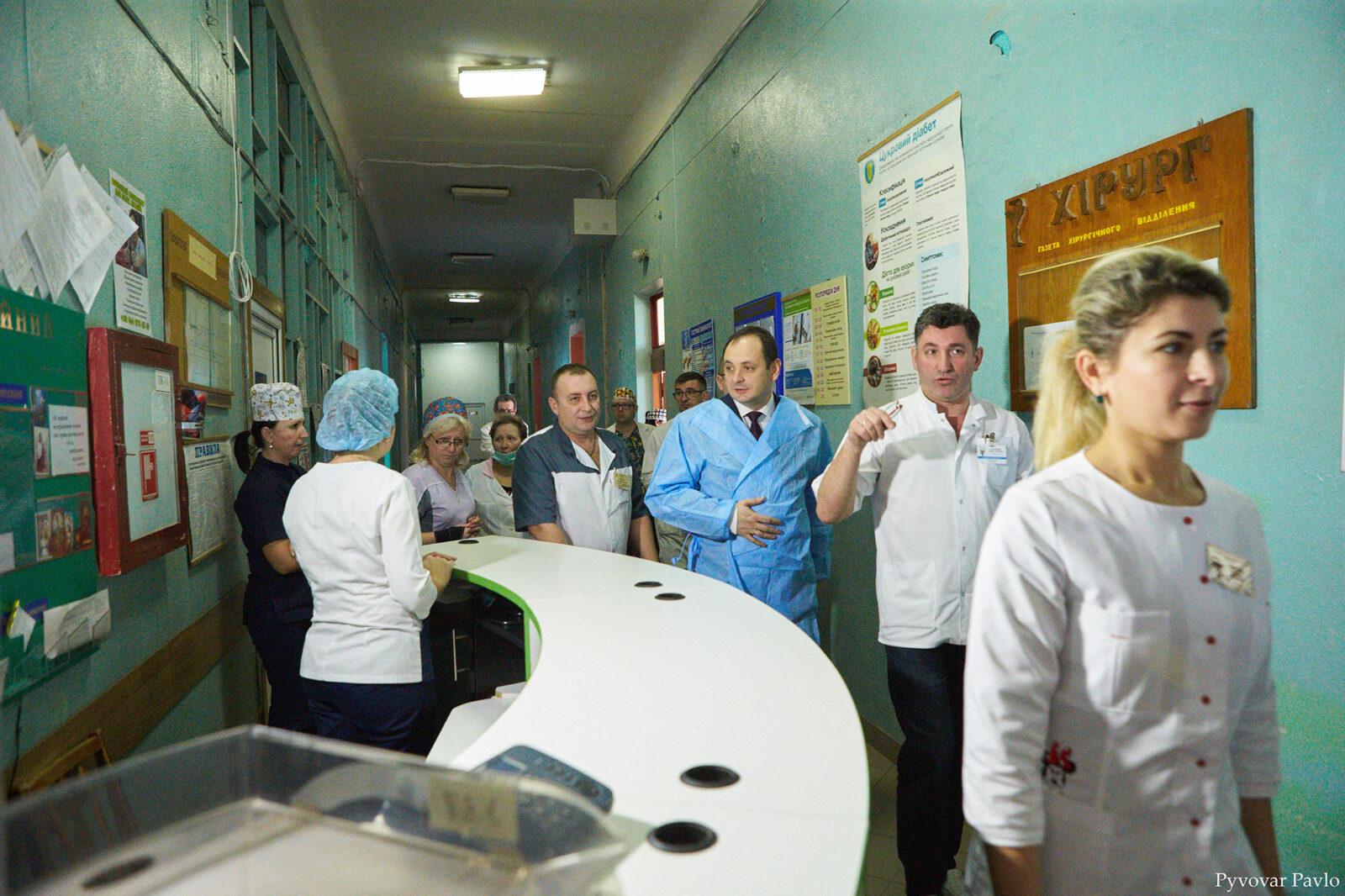 Марцінків проінспектував лікарню на Матейка 2