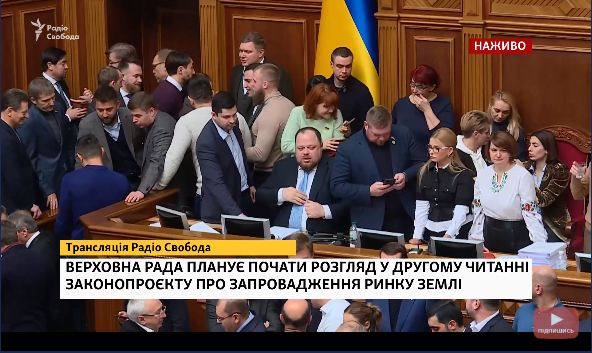 Оксана Савчук принесла в Раду вазон і закликала депутатів не голосувати за ринок землі 4