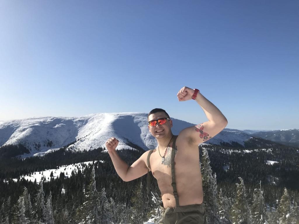 Ветеран АТО на протезі підкорив зимову Грофу 2