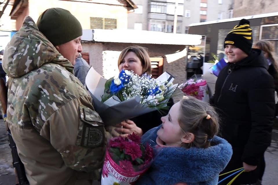 Прикарпатські поліцейські повернулися із зони війни 1