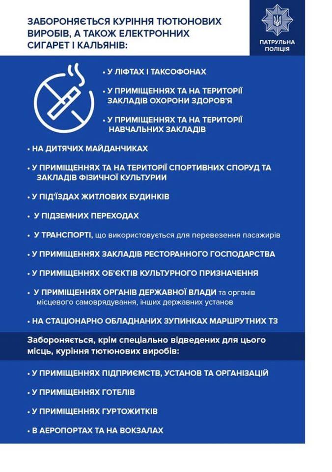 Цього року у Франківську оштрафували понад 100 людей за куріння у заборонених місцях 2