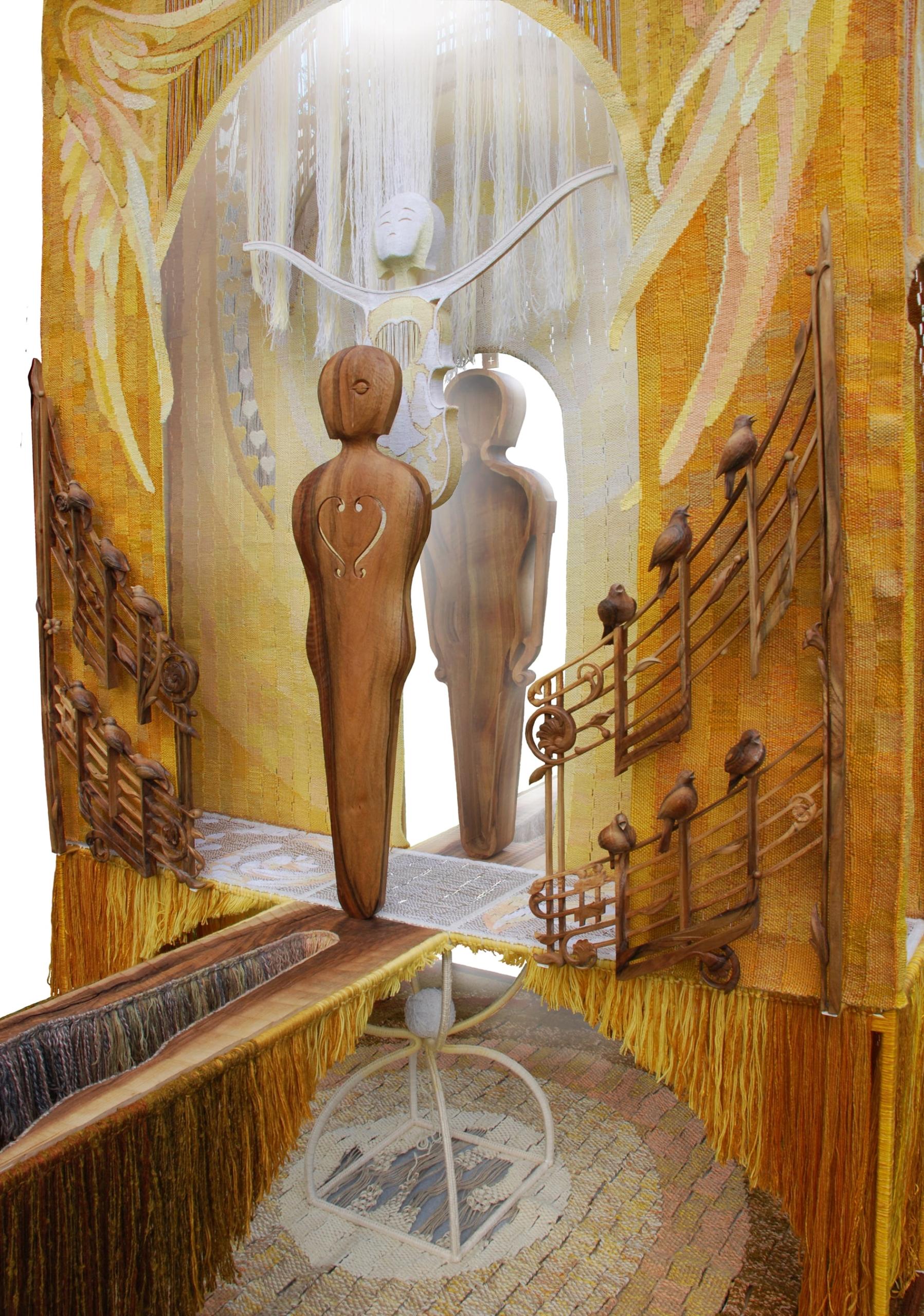 Шлюб дерева і нитки: подружжя із Косова створює філософські гобелени 8
