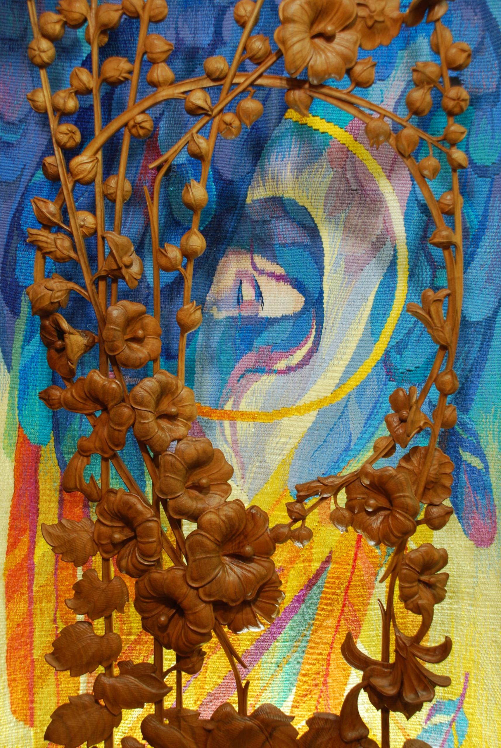 Шлюб дерева і нитки: подружжя із Косова створює філософські гобелени 6