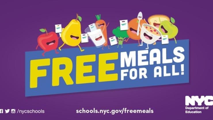 Нью-Йорк, США, як влада допомагає людям - безкоштовна їжа