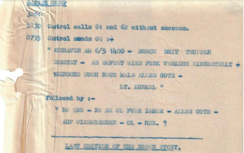 У Британії оприлюднили останнє повідомлення нацистів, перехоплене перед капітуляцією 1