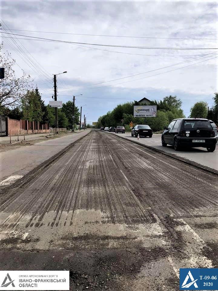 На Прикарпатті ремонтують дорогу Івано-Франківськ – Надвірна 4