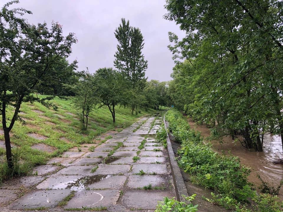 Марцінків показав наслідки негоди на дамбах Франківська та у селах ОТГ 2
