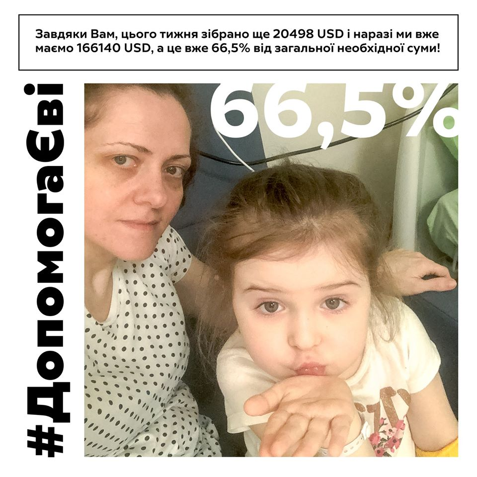 Чотирирічній Єві Юхман з Франківська не вистачає на лікування 84 тисячі доларів 1