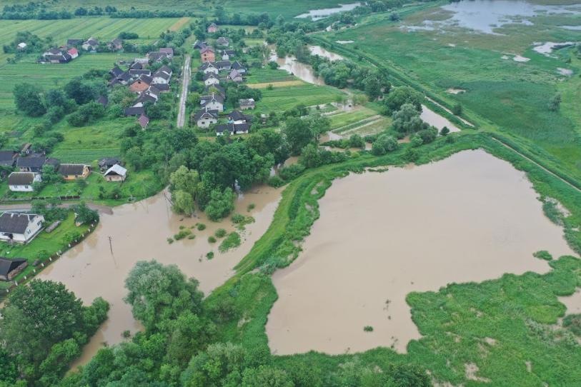В Бабині Середньому Лімниця зруйнувала дамбу: підтоплено три десятки дворів і пасовища 2