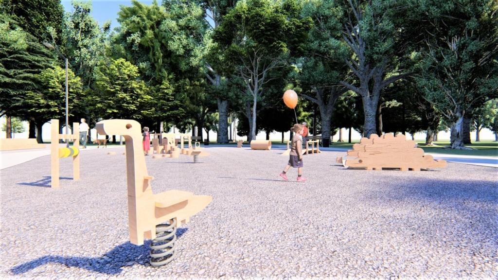 У парку Франківська хочуть влаштувати дитячий простір для найменших 5